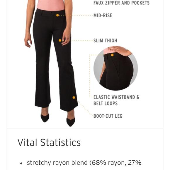 4723abaeb5c8e betabrand Pants - BETABRAND Black Dress Yoga Pants 2x Boot Cut